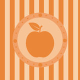 Cute apple background Royalty Free Stock Photography