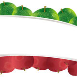 Cute apple background banner Royalty Free Stock Images
