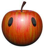 Cute Apple with Eyes Stock Image