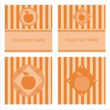 Cute apple frames Royalty Free Stock Photography