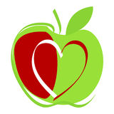 Cute apple illustration Stock Image