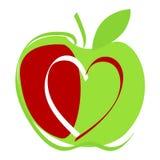 Cute apple illustration Stock Image