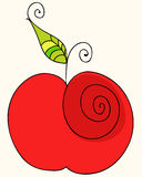 Cute apple illustration Stock Images