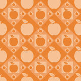 Cute apple pattern Stock Images