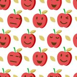 Cute apple seamless pattern 2. Cute apple seamless pattern, vector background Royalty Free Stock Photo