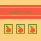 Cute apples card Royalty Free Stock Photo