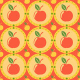 Cute apples pattern Royalty Free Stock Photos