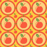 Cute apples pattern Royalty Free Stock Image