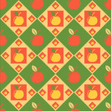 Cute apples pattern Royalty Free Stock Photo