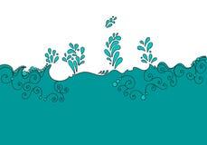 Cute aqua background Stock Image