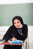 Cute Arabic schoolgirl Stock Photos