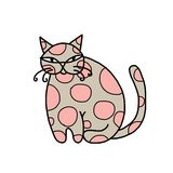 Cute art cat for your design Royalty Free Stock Images