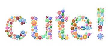 Cute as a button Stock Image