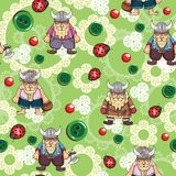 Cute as buttons vikings pattern Stock Photo