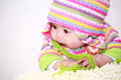 Cute asia baby. Close up of cute asia baby Stock Photo