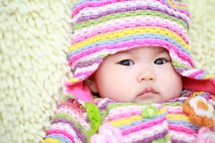 Cute asia baby. Close up of cute asia baby Stock Images