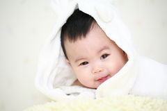 Cute asia baby. Close up of cute asia baby Royalty Free Stock Image