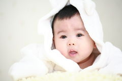 Cute asia baby. Close up of cute asia baby Royalty Free Stock Photography