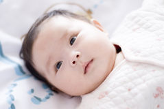 Cute asia baby. With fat face Royalty Free Stock Photo
