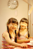 Cute Asia twins Stock Photo