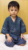 Cute asian boy in kimono dres Royalty Free Stock Images
