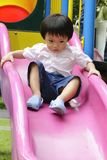 Cute Asian boy in a playground Stock Photography