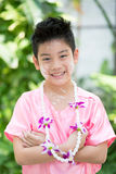 Cute Asian boy smiling Royalty Free Stock Images