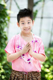 Cute Asian boy smiling Stock Photography