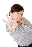 Cute Asian business woman Stock Images