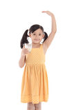 Cute asian child drinking milk Royalty Free Stock Photography