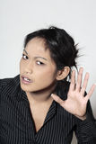 Cute asian deaf woman Royalty Free Stock Photo