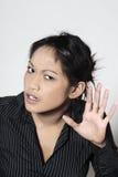 Cute asian deaf woman Royalty Free Stock Photo