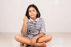 Cute asian doctor girl stock photography