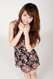 Cute Asian girl Royalty Free Stock Photos