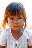 Cute asian girl. Portrait of child with dirty face Royalty Free Stock Photography