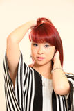 Cute Asian Girl 80s Style Royalty Free Stock Images