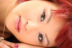 Cute Asian Girl 80s Style Stock Photography