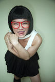 Cute Asian girl with glasses Royalty Free Stock Photo