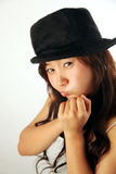 Cute Asian girl with hat Stock Photos