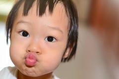 Cute Asian girl, headshot. Stock Photo
