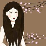 Cute asian girl with long haircut Stock Photos