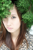 Cute Asian girl looking at viewer Royalty Free Stock Photography