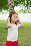 Cute asian girl outdoors Royalty Free Stock Images
