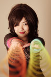 Cute Asian girl Royalty Free Stock Images