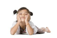 Cute Asian girl portrait Royalty Free Stock Photos