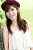 Cute asian girl portrait. A cute asian girl portrait Stock Photos