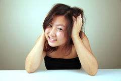 Cute Asian girl smiling Stock Photography