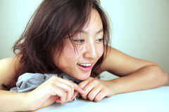 Cute Asian girl smiling Royalty Free Stock Photo