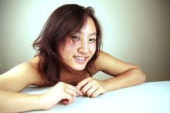 Cute Asian girl smiling Stock Images
