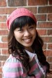 Cute Asian girl smiling Stock Image